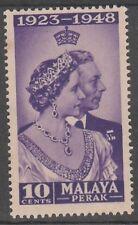 Perak 10c Royal Silver Wedding 1948 Mnh # E 110