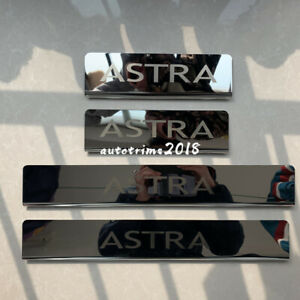 Chrome Steel Door Sill Scuff Plate Guards For Vauxhall Opel Astra K HB 2016-2019