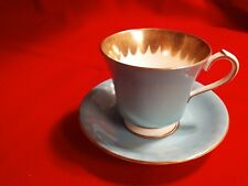 AYNSLEY (England) #2965 Cup & Saucer, Aqua w/Gold Lining, NEW condition