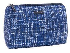 SCOUT Packin' Heat Makeup Bag Large Black Blue White Pattern East Of Tweeden NWT