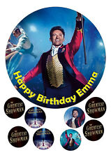 "The Greatest Showman Iced / Icing / Frosting Edible Cake Topper 7.5"" + Cupcake"
