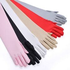 Ladies Long Caress Over Elbow Gloves, Fancy Dress, Role Play, Red Xmas Christmas