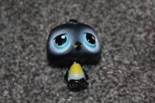 Littlest Pet Shop Black Penguin #389 Blue Eyes LPS Toy Bird Animal RARE Hasbro