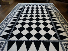 Masonic Wool Area Rug Carpet 6x9 Ring Apron Freemason Lodge Knights Templar