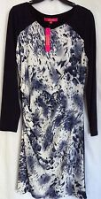 Catherine Malandrino Navy Blue Side Ruch Stretch Dress L Large NWT $128 New