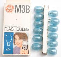 (12) GE M3B USA Photoflash Blue Unfired Flash Bulbs - Vintage 'NEW' C345