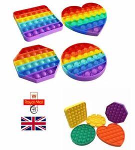 Push Pop Fidget Kids Toy It Special Needs Silent Sensory Bobble Autism Classroom