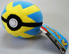 "New Pokemon Quick Ball Net Ball Or Poke Ball 5"" Plush Toy TOMY Official (Q)"