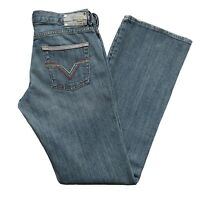 Diesel Industry Denim Jeans Womens 29 Rame Bootcut 84J Blue Wash Made in Italy