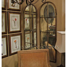 """Hand Forged Metal Arch Antiqued Wall Mirror 50"""""""