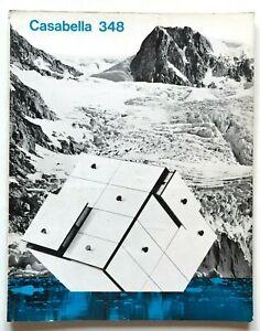 Casabella n. 348 maggio 1970 Rivista Architettura Bernasconi Concorso Trieste