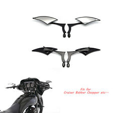 Black Motorcycle Mirrors 8mm Universal For Harley Dyna Softail Sportster Touring