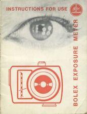 Bolex Exposure Meter Instruction Manual