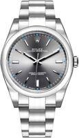 NEW in Box Rolex Oyster Perpetual 39 Dark Rhodium Men's Watch 114300-0001