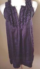 Lapis V Neck Ruffled Sheath Dress Size M Purple 100% Polyester