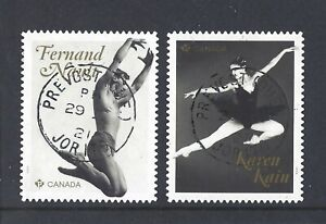 2021 Canadian Ballet Legends Pair from Booklets stamps CDS First Day Cancel