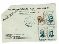 Madagascar 1949 Partial Cover to USA / Pasted to Album Page - Z276