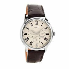 Stunning Guess Mens Watch Brown Leather Classy UK Warranty RRP £149 W70016G2