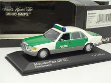 Minichamps 1/43 - Mercedes 420 SEL Polizei Saarbrucken