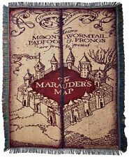 "Warner Brothers Jk Rowling Harry Potter,""Marauder 9;s Map"" Woven Tapestry Throw"