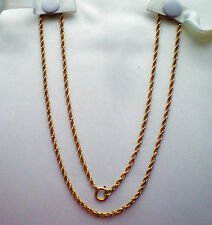 """Beautiful Vintage 14K Yellow Gold Twisted Rope Necklace Chain 14kt 5 grams 19.5"""""""