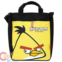 "Angry Birds Canvas Tote Bag 13"" Shoulder Bag -Yellow Bird Rovio Licensed"