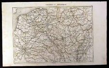 1880 Duvotenay Map - France Belgium - French Revolution