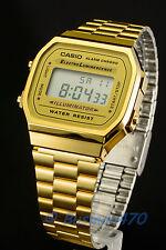 CASIO Men's Digital Retro 80s Vintage Gold A-168WG-9 Watch 100% Original NIB !