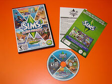 The Sims 3 Island Paradise Expansion Pack (PC, 2013) COMPLETE with key & manual.