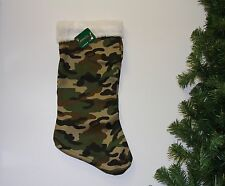 Camo, Christmas Stocking, Camouflage, Hunting, Army,