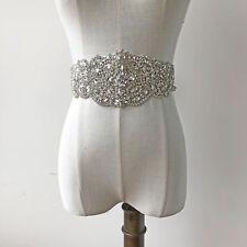 Rhinestone Wedding Applique Bridal Dancing Dress Motif Crystal Costume Trim