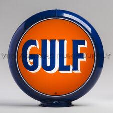 """Gulf 13.5"""" Gas Pump Globe w/ Dark Blue Plastic Body (G138)"""