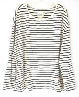 Rachel Hollis Ltd. Sweatshirt Shirt Sz XL Navy Stripe Pull On A373192 Women CB3C