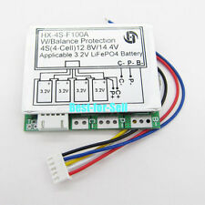 4S 100A 12.8V w/Balance LiFePo4 LiFe 18650 Battery Cell BMS Protection PCB Board