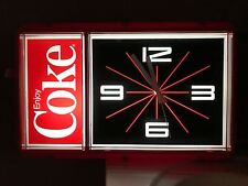 NEW IN SEALED BOX Vintage 1984 CocaCola Coke Lighted Clock by Ridan Displays Inc