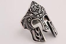 Turkish Jewelry Knight Helmet Symbol 925 Sterling Silver Men's Ring Size 9