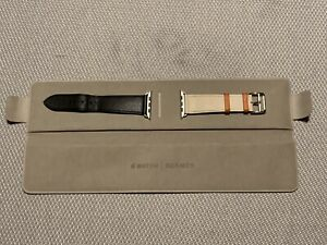 Apple Watch Hermes Single Tour Craie/Indigo Leather Band 42/44mm