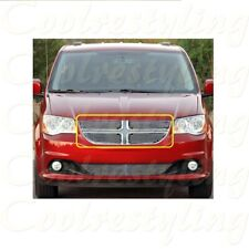 FOR DODGE GRAND CARAVAN 2011 12 13 14 15 16 17 4pcs UPPER BILLET GRILLE INSERT