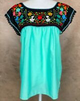 Mexican Boho Peasant Blouse Floral Embroidered, Handmade Top, Frida Lace Crochet