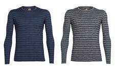ICEBREAKER Mens Oasis Longsleeve Crewe Stripe - vielseitiges Sportshirt 200g/m²