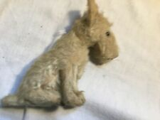 """Earlier Vintage Steiff Toy Terrier Dog wit jointed head mohair 7"""" x 3"""""""