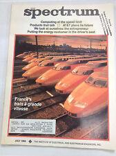 IEEE Spectrum Magazine France's Train A Grande Vitesse July 1982 FAL 041617nonrh