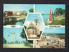 VIRY-CHATILLON (91) Cité , TELESIEGE , Régates , VILLAS & EGLISE