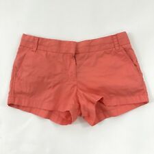 J. Crew Shorts Womens Size 8 Chino Coral Cotton Zip Clasp