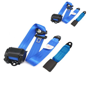 2x Car Seat Belt 3 Point Safety Travel Adjustable Retractable Auto Universal