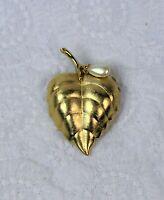Vintage Avon Gold Tone Faux Pearl Perfume Brooch