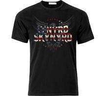 Lynyrd Skynyrd Inspired Flag & Eagle T Shirt Black