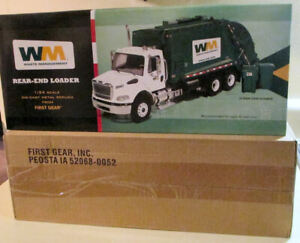 FIRST GEAR 1/34 WASTE MANAGEMENT REAR LOAD GARBAGE TRASH TRUCK NEW🎄Christmas 🎁