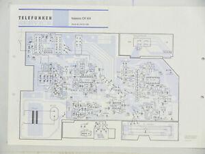 Telefunken Service bajazzo CR 851 Schaltplan Belegungsplan