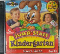 JUMPSTART KINDERGARTEN CD-ROM computer game Ages 4-6 2CD SET
